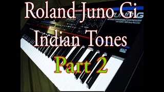 Roland Juno Gi Indian tones patches demo part 2