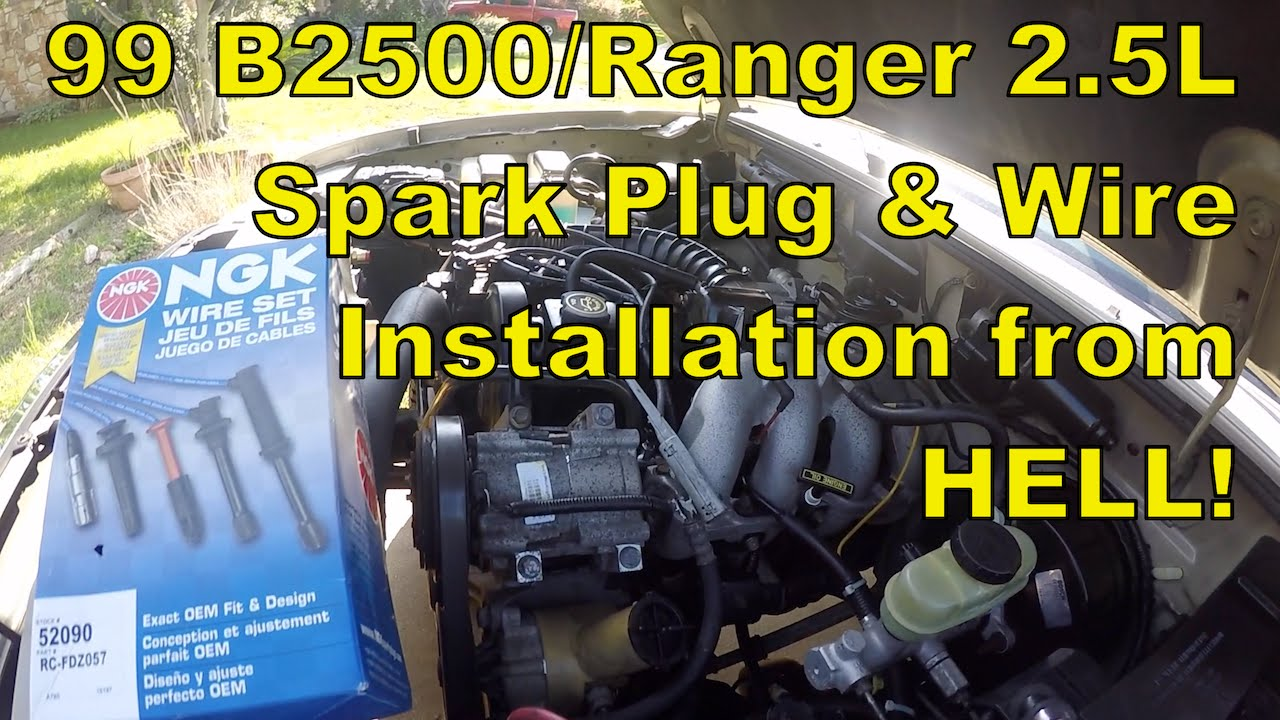 hight resolution of 1999 mazda b2500 ford ranger changing spark plugs and wires