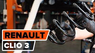 Remplacer Ressort hélicoïdal avant gauche droit RENAULT CLIO III (BR0/1, CR0/1) - instructions vidéo