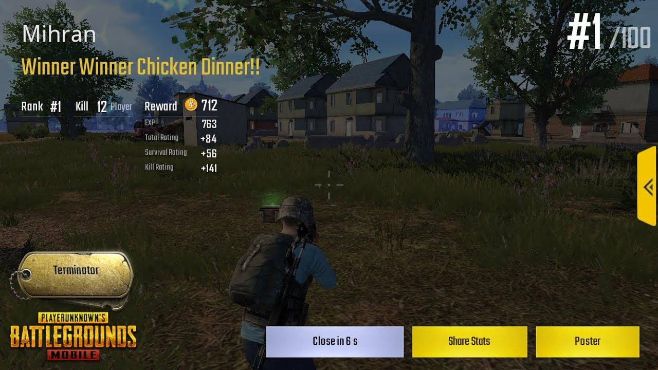 pubg mobile english ios gameplay winner winner chicken dinner