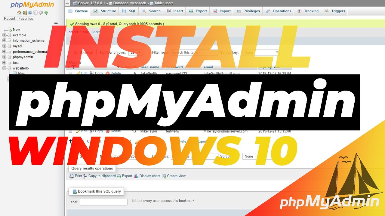 How To Install And Setup phpMyAdmin in Windows 10