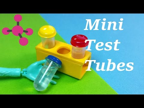 DIY Miniature Working Test Tubes - Science Kit DIY (Holds Liquid)!