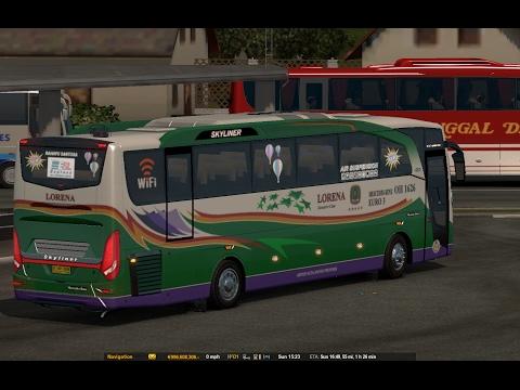 Lorena jalur sumatra kelok 9 || ETS2 bus mod indonesia