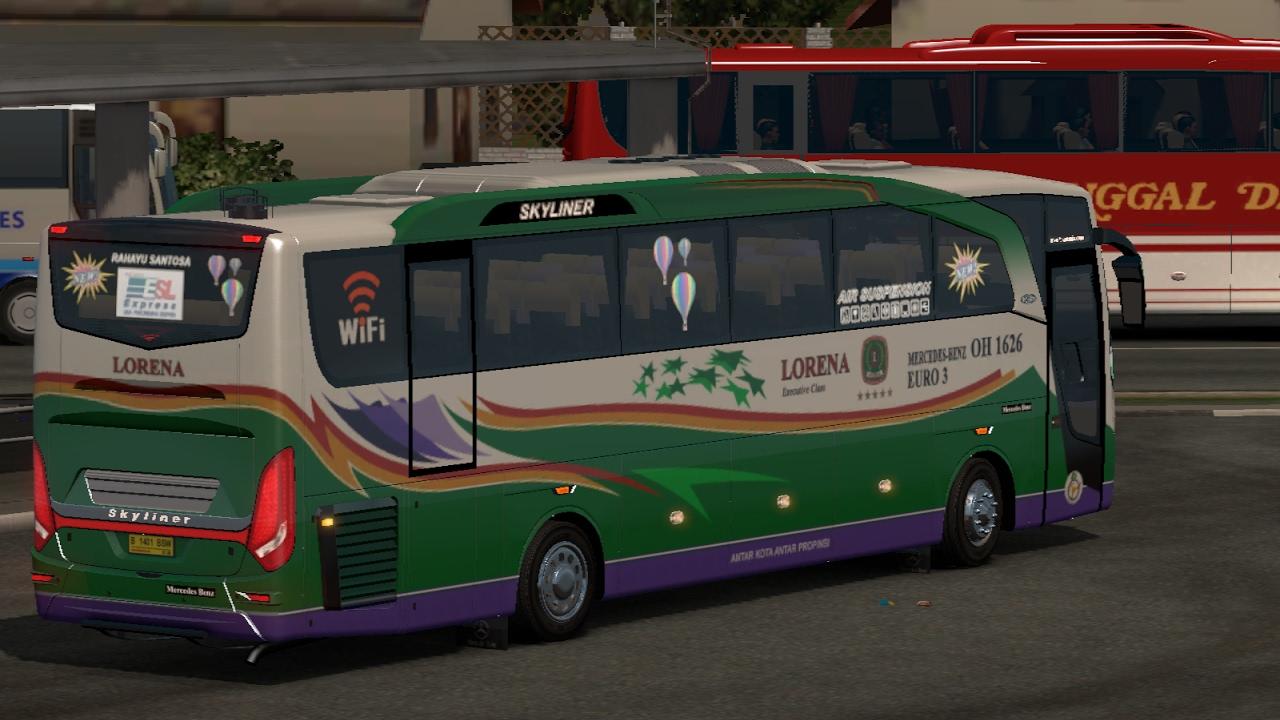 Lorena jalur sumatra kelok 9    ETS2 bus mod indonesia