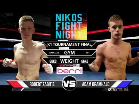 Niko Fight Night 6: 65kg Robert Zabitis vs Adam Bramhald