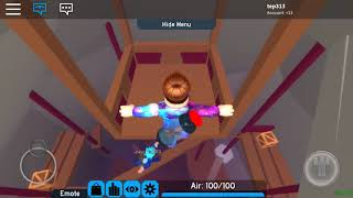 Playing Flood Escape 2 in roblox