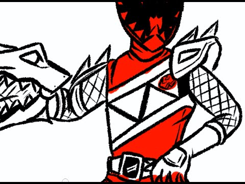 I draw Dino Charge Red Ranger Power Rangers Dino Charge  YouTube