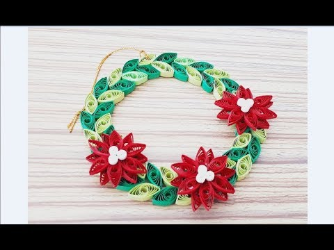 diy paper quilling christmas wreath easy simple christmas design 09 - Simple Christmas Wreaths