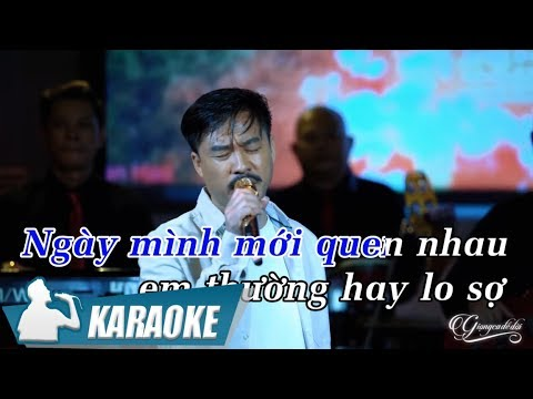 Karaoke Sợ Tình Ta Dang Dở Tone Nam - Quang Lập | Nhạc Vàng Bolero Karaoke
