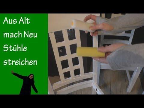Upcycling Aus alt mach neu Stühle streichen Teil 2 von 2