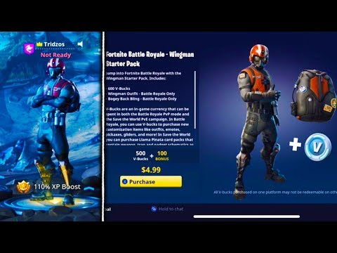NEW WINGMAN STARTER PACK NOW AVAILABLE In Fortnite! - Fortnite Battle Royale WINGMAN Skin Gameplay!