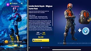 NOUVEAU WINGMAN STARTER PACK MAINTENANT AVAILABLE à Fortnite! - Fortnite Battle Royale WINGMAN Skin Gameplay!