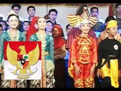 Lagu GARUDA PANCASILA (Sudharnoto) - Lagu Wajib Nasional - Taman Siswa Yogyakarta [HD]