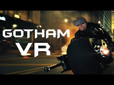 PASEO POR GOTHAM CON LA MOTO DE BATMAN EN VR   Ouculus Rift Gameplay