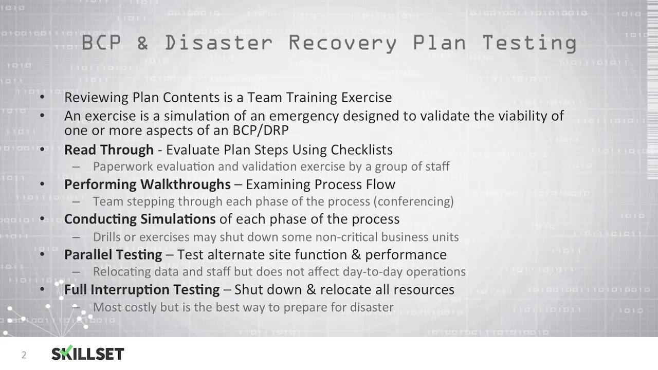 Drp disaster recovery plan testing cissp free by for Disaster recovery testing template