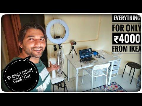 MY BASIC EDITING ROOM SETUP | UNDER ₹4000 FROM IKEA