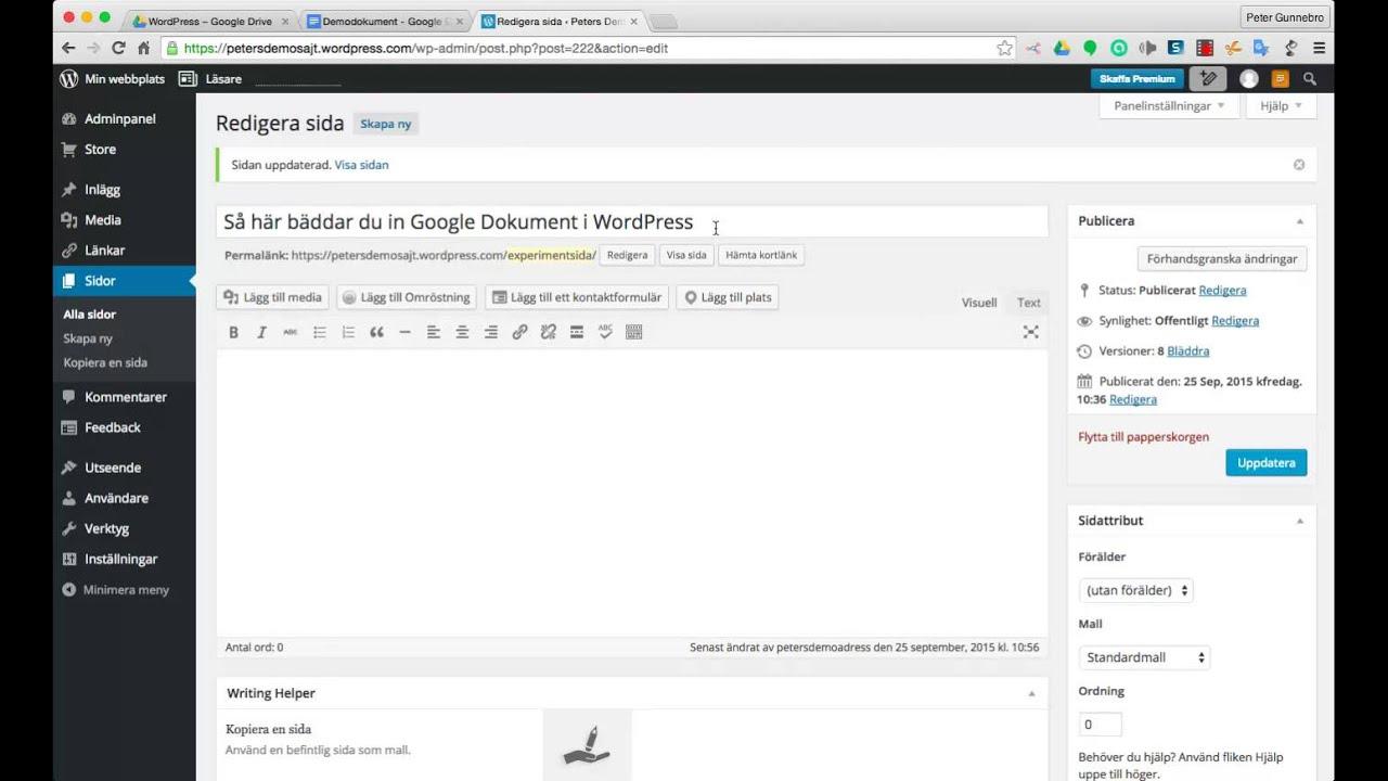 Så här bäddar du in ett Google Dokument i WordPress