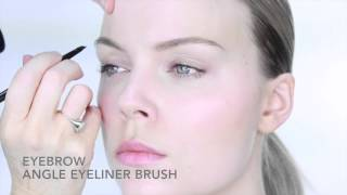 Nicci Welsh eyebrow, angle eyeliner brush Thumbnail