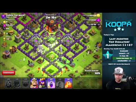 Clash Of Clans All Witch 3 Star 1 Mil+ Loot With Banana