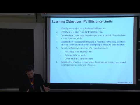 14. PV Efficiency: Measurement and Theoretical Limits