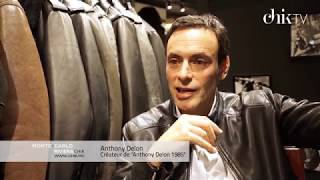 Anthony Delon lance sa nouvelle collection de vestes en cuir au Printemps à Paris
