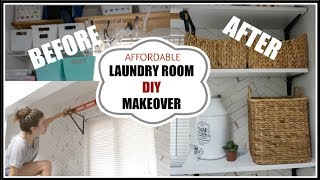 DIY LAUNDRY ROOM MAKEOVER | MODERN FARMHOUSE LAUNDRY ORGANIZATION | Momma From Scratch