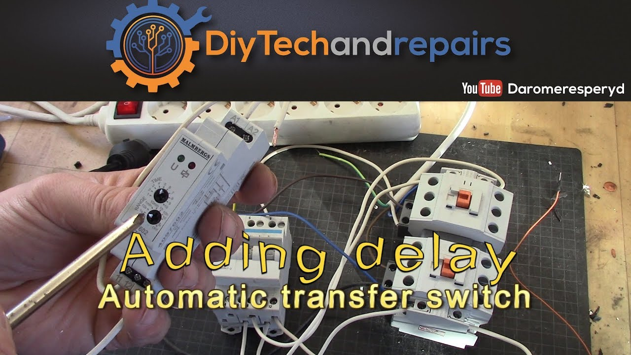 hight resolution of automatic transfer switch adding a delay relay for going back to grid