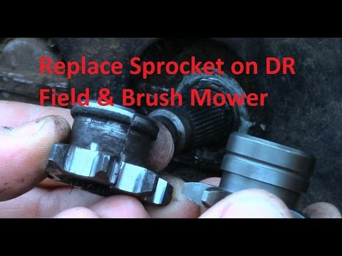 Replace Transmission Sprocket On Dr Field Brush Mower Youtube