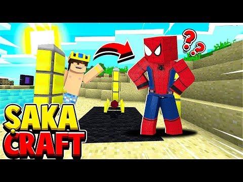 SPİDERMAN OLUP REZİL OLMAK (FAİL ŞAKA) #8 ŞAKACRAFT - Minecraft