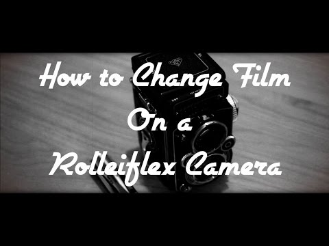 How to load medium format film (120 or 6x6) into a Rolleiflex camera