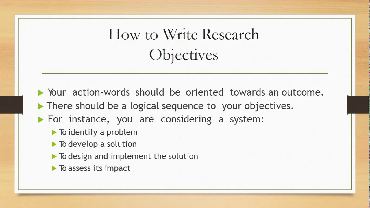 How to write Research Objectives in Hindi Urdu Lecture 7 - YouTube