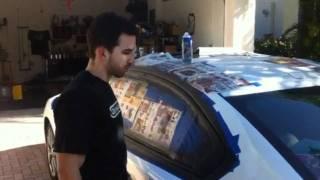 PlastiDip on Window Trim - Black Out Chrome Window Trim on Your Car - Dipyourcar.com