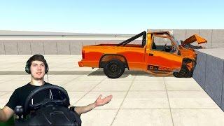 НЕУДАЧНЫЙ ДРИФТ BeamNG Drive + РУЛЬ (Logitech Driving force GT)