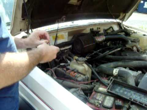 How to jumper the Fuel pump relay on a Jeep Cherokee XJ