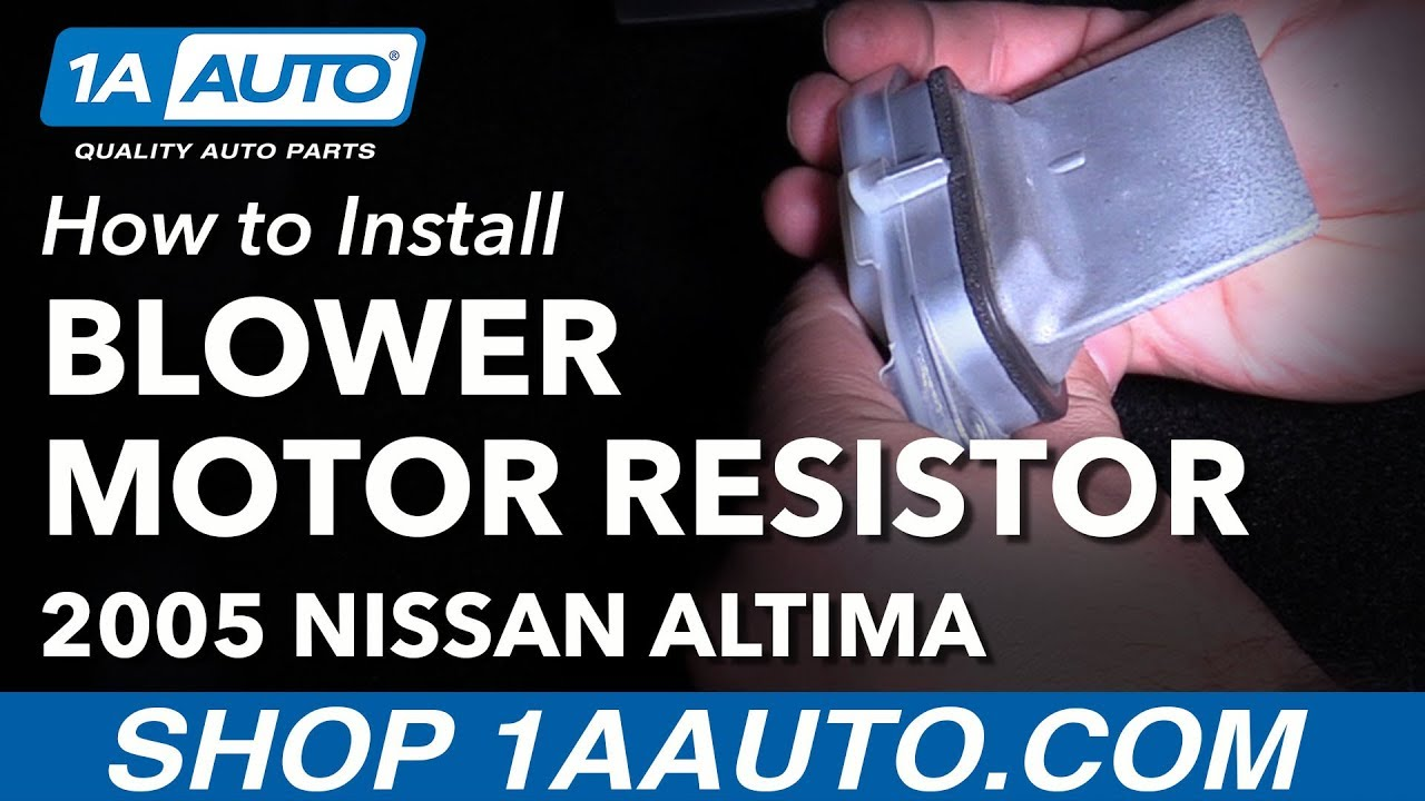 How To Replace Blower Motor Resistor 02 06 Nissan Altima Youtube 2010 Xterra Fuse Box