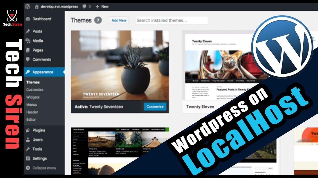 Create WordPress website on localhost