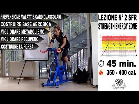 Spinning - allenamento completo di indoor cycling salita forza resistenza 80% fc max - Lez. n°2
