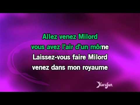 Karaoké Milord - Edith Piaf *