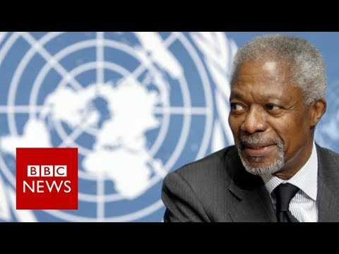 Kofi Annan Death: Former UN chief dies at 80 - BBC News