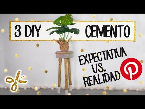 3 DIY con CEMENTO - Intento recrear DIY de Pinterest - Expectativa vs realidad