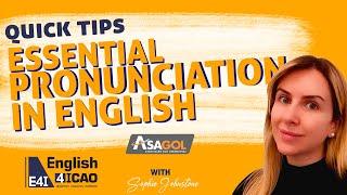 Essential Pronunciation In English   Três pronúncias comumente erradas no teste ICAO