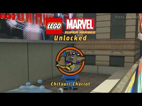 Lego Marvel-Unlock Chitauri Chariot+Gameplay-2nd Heimdall mission