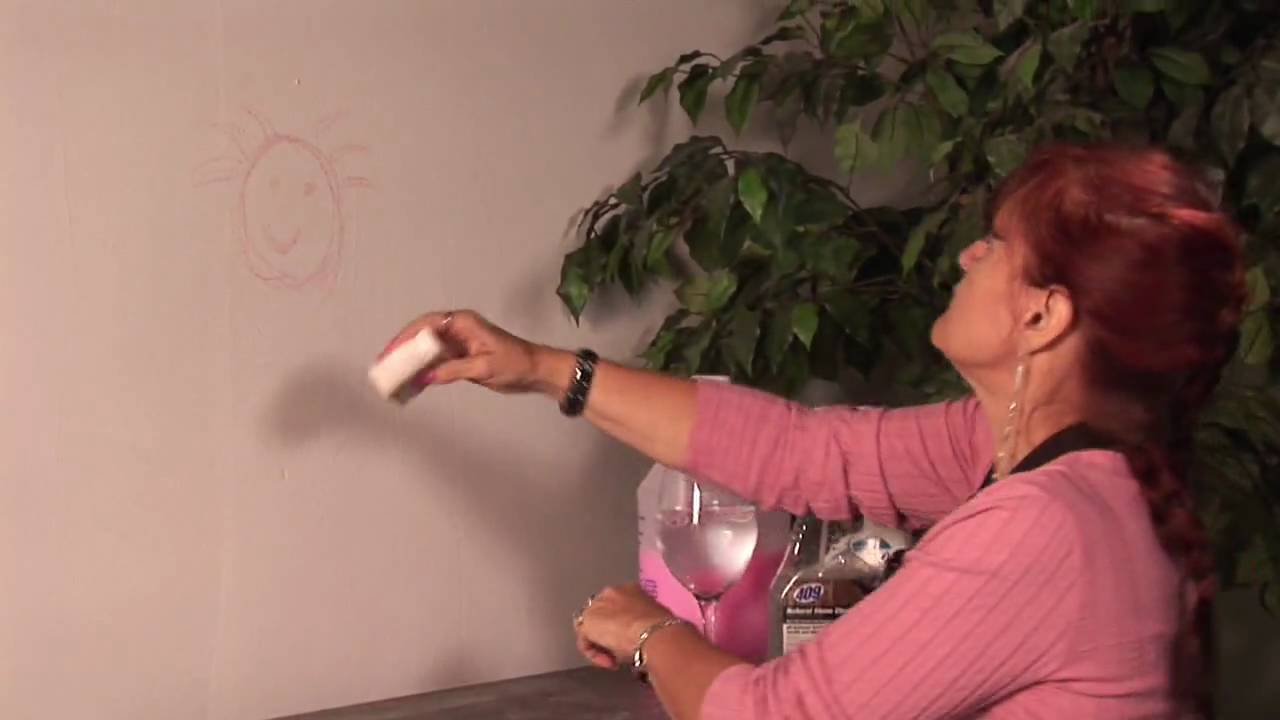 Basic Household Cleaning How To Get Crayon Off The Wall
