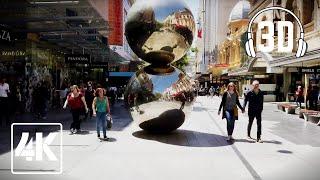 Walking through Adelaide City Centre | 4K | 3D Binaural Audio