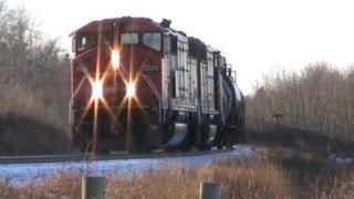 CN Train Spotting: RARE!!! CN SD60F #5529 P5 Shave & A Haircut!!! 1/3 12/29/11