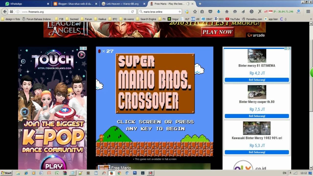 Free Super Mario Bros Crossover Online Game To Play