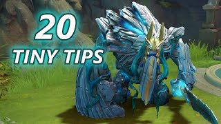20 Tips To Be A Better Tiny Player