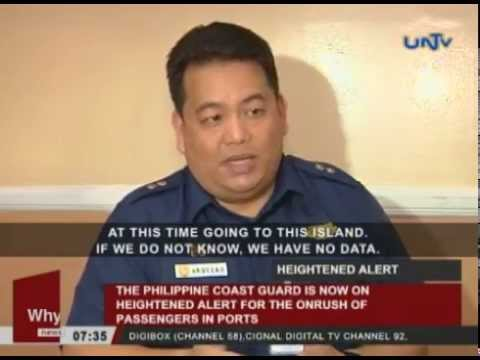 PHL Coast Guard, now on heightened alert for the onrush of passengers in ports