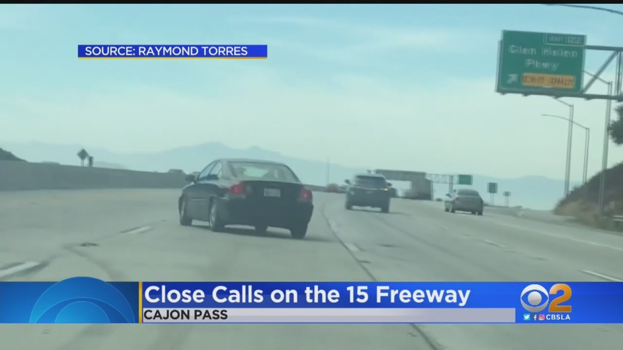 Caught On Camera: Driver Loses Control Of Vehicle On Cajon Pass Freeway