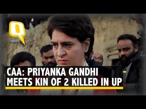 CAA Unrest: Priyanka Gandhi Meets Families of Two Killed in Uttar Pradesh | The Quint